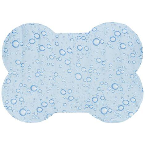 l Esterilla refrigerante perros forma hueso azul claro M 85x60 cm