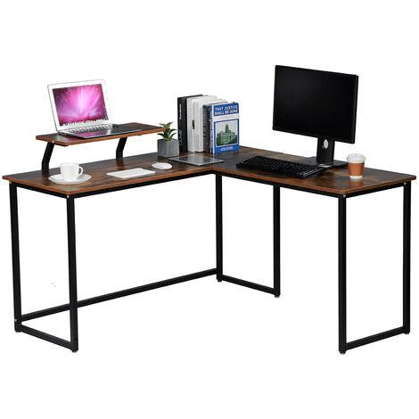 L-förmiger Eckschreibtisch Holz Computertisch 135 * 135 * 75 cm