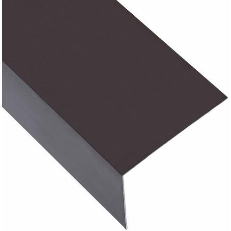 L-shape 90° Angle Sheets 5 pcs Aluminium Brown 170cm 100x50 mm