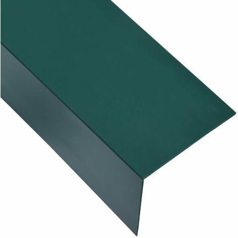 L-shape 90° Angle Sheets 5 pcs Aluminium Green 170cm 100x50 mm