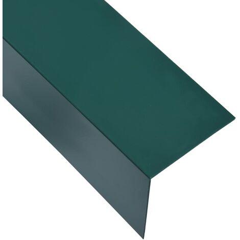 L-shape 90° Angle Sheets 5 pcs Aluminium Green 170cm 30x30 mm