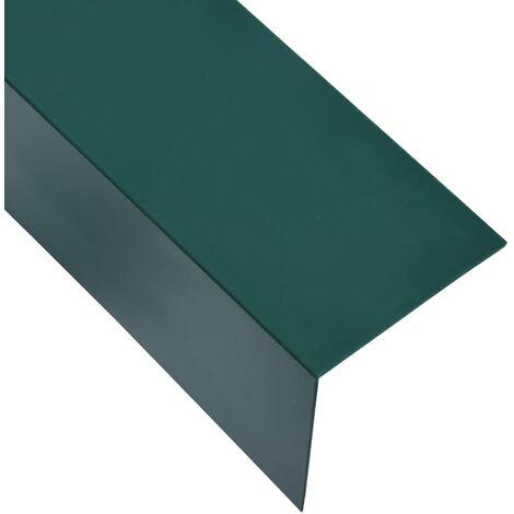 L-shape 90° Angle Sheets 5 pcs Aluminium Green 170cm 50x50 mm