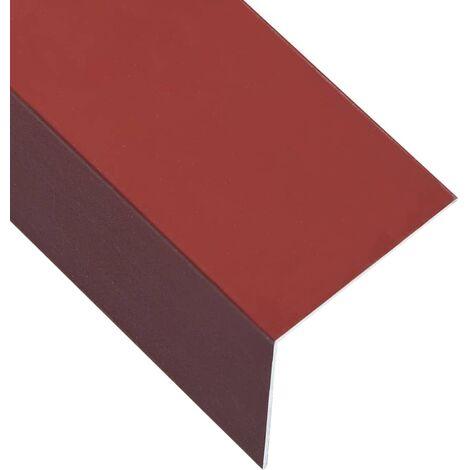 L-shape 90° Angle Sheets 5 pcs Aluminium Red 170cm 100x100 mm