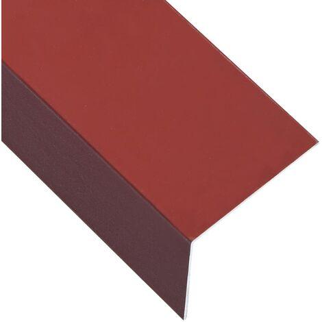L-shape 90° Angle Sheets 5 pcs Aluminium Red 170cm 100x50 mm