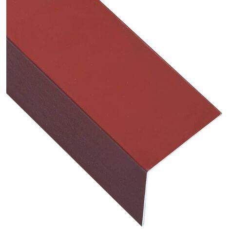 L-shape 90° Angle Sheets 5 pcs Aluminium Red 170cm 30x30 mm