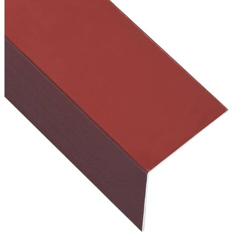 L-shape 90° Angle Sheets 5 pcs Aluminium Red 170cm 50x50 mm
