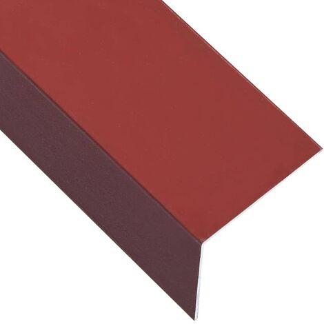 L-shape 90° Angle Sheets 5 pcs Aluminium Red 170cm 60x40 mm