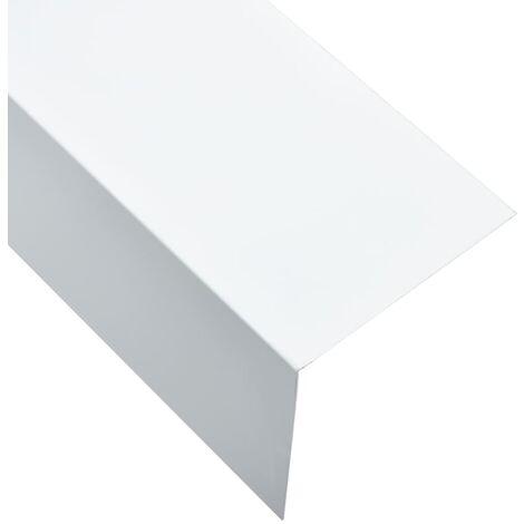 L-shape 90° Angle Sheets 5 pcs Aluminium White 170cm 100x100 mm
