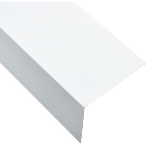 L-shape 90° Angle Sheets 5 pcs Aluminium White 170cm 100x50 mm