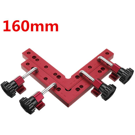 L-shaped Auxiliary Fixture Positioning Panel Fixing Clip Woodworking Clamping Tool 160*160MM