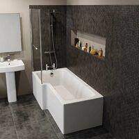 L Shaped Shower Bath LH Front Panel Bathroom Tub 1700 Acrylic
