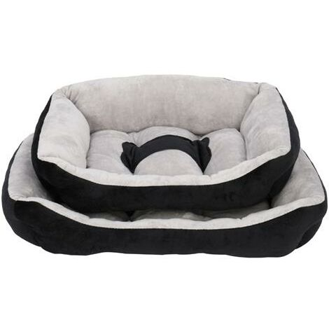 L Size Pet Bed Dog Mat Cat Pad Soft Plush Gray Black for Cats & Small Dogs