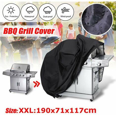 L / XL / XXL housse de barbecue robuste étanche pluie barbecue grill protecteur de jardin (XXL (190x71x117cm))