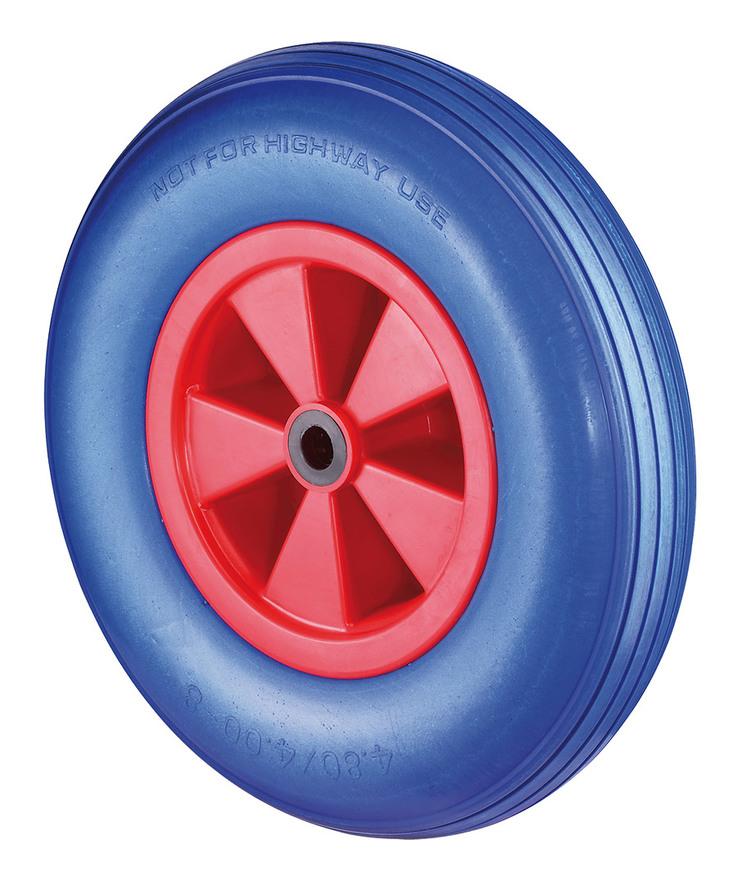 Lenkrolle D.260mm Trgf.160 kg m.Platte Radkörper STA PU blau