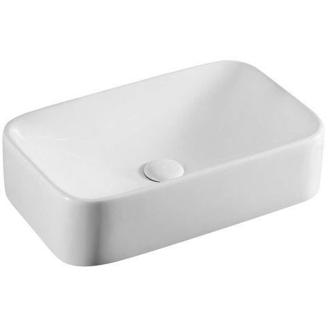 LA 38 lavabo rettangolare 48,5 x 28,5 cm da appoggio in ceramica bianco