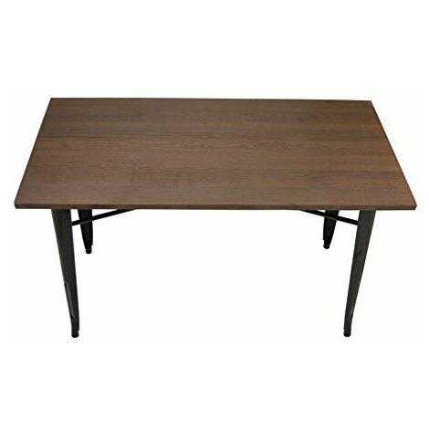 La Chaise espagnole tólix Table Tableau, acier inoxydable, marron foncé, 53.50x 52x 73cm