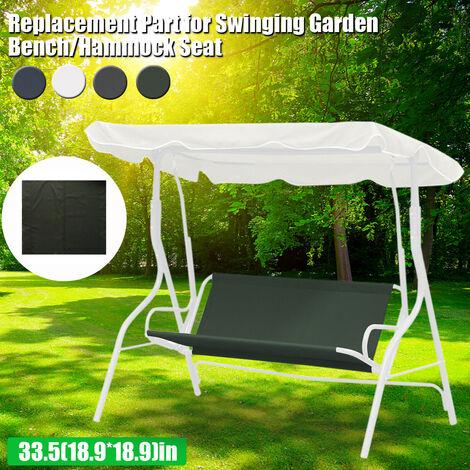(La chaise n'est pas incluse) 96x85cm Courtyard Garden Swing Hamac Housse de protection Housse de protection étanche (gris, 1 place 33.5 & quotx37.8)