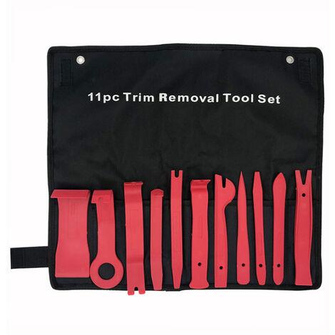La eliminacion 11pcs panel de ajuste del sistema de herramienta del interior del coche Grupo Moldeo clip de retencion Remover Herramientas