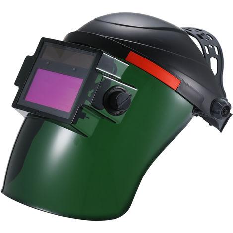 La energia solar oscurecimiento automatico casco de soldadura automatica de soldadura de oscurecimiento mascara casquillo de la proteccion Blindaje Con la lente ajustable de He-adband
