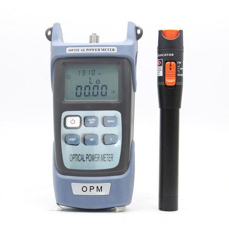 La fibra optica Kit de herramientas, auto calibracion del medidor de potencia optica de 10 MW localizador visual de fallos Pen Testing