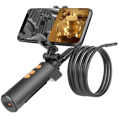La fidelidad inalambrica conectado Industrial Endoscopia boroscopio, 5 metros de alambre de Inspeccion de doble camara, incorporado 9pcs 5 Niveles LED regulable