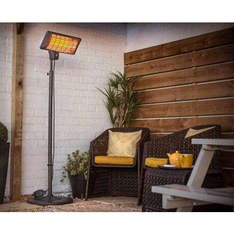 La Hacienda 69526 Free Standing Quartz Electric Outdoor Garden Patio Heater