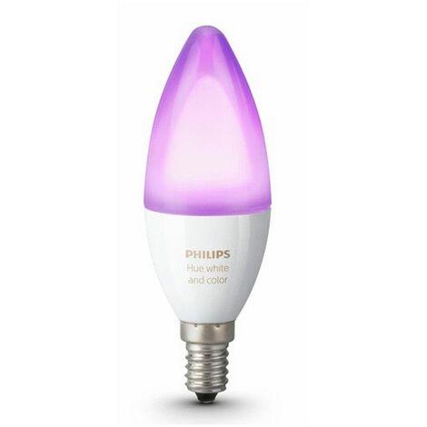 La lámpara de la Vela de Philips HUE 6.5 W E14 conexión Wi-fi gratuita multicolor 69516600