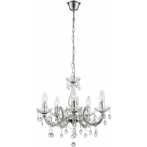 La lumière brillante est ce que promet ce lustre en design élégant