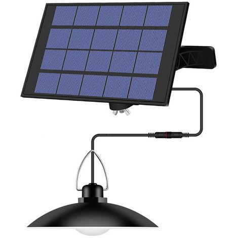 La luz accionada solar colgantes con el panel ajustable automatico que cuelga encendido / apagado de iluminacion del sensor IP65 resistente al agua de la lampara para exterior / interior jardin Patio patio de almacenamiento, Blanco, 1-cabeza