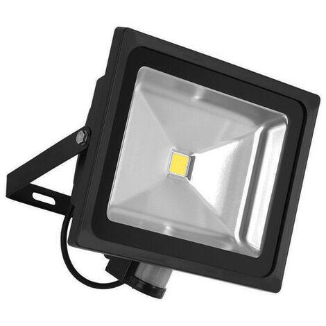 La luz de inundacion del sensor de movimiento LED AC85-265V exterior sensibles seguridad enciende las lamparas accesorio de la pared del reflector para Parking Patio, Negro, 20W