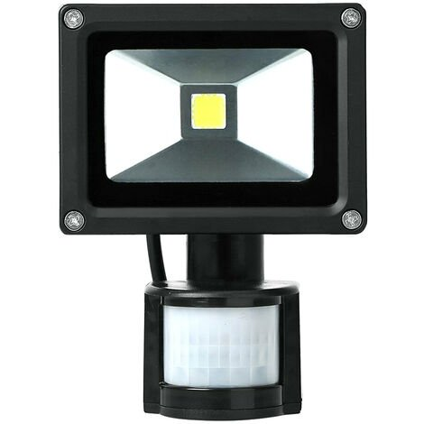 La luz de inundacion del sensor de movimiento LED AC85-265V exterior sensibles seguridad enciende las lamparas accesorio de la pared del reflector para Parking Patio Patio, Negro, 50W