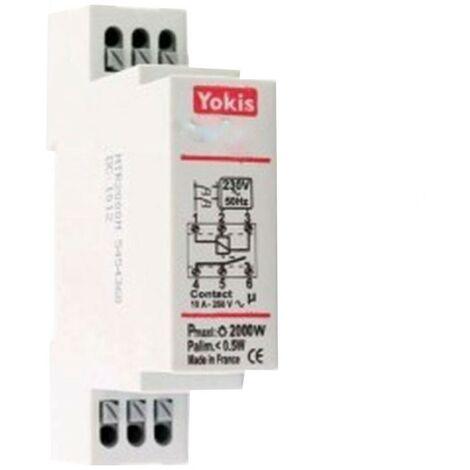 La Luz del temporizador Escala Yokis Urmet de la norma DIN con neutro anti-bloqueo de 2000W MTM2000M