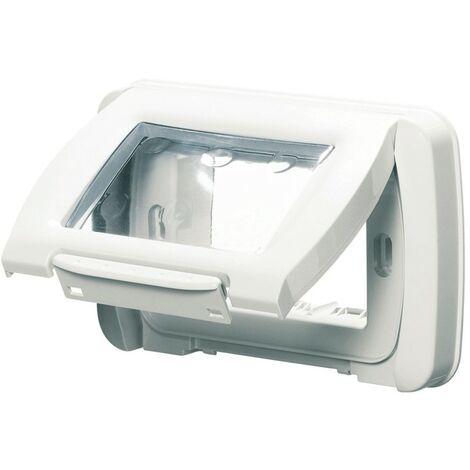 La placa impermeable Gewiss blanco ip55 3 módulos GW22451