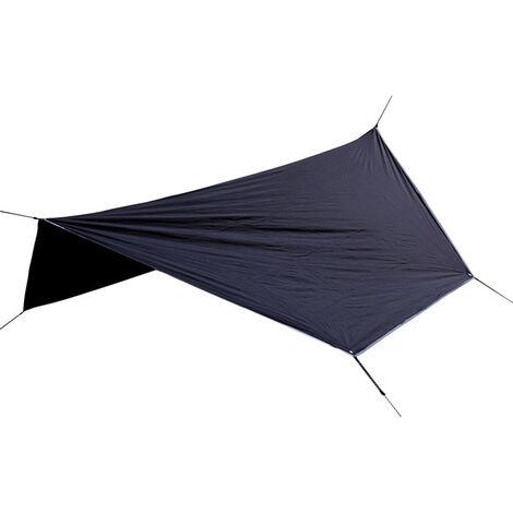 La Pluie Fly Sun Voile D'Ombrage Auvent Resistant Aux Uv Impermeable Robuste Sable Pare-Soleil Pique-Nique Tapis, Noir
