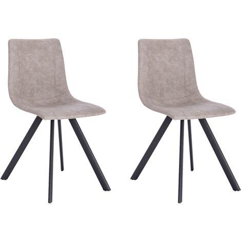 La Silla Española - Silla de comedor estilo industrial con asiento y respaldo en tela modelo Cervera en color Arcilla