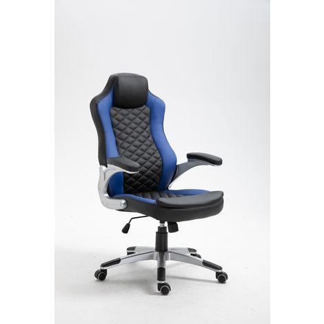 La Silla Española - Silla de estudio juvenil tipo Gaming modelo Arriondas en color azul y negro