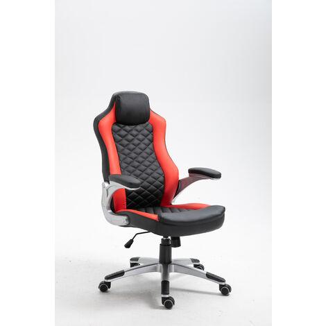 La Silla Española - Silla de estudio juvenil tipo Gaming modelo Arriondas en color rojo y negro