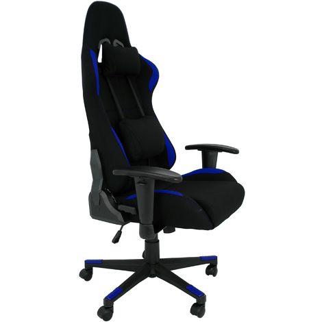 La Silla Española - Silla de estudio juvenil tipo Gaming modelo Murcia en color negro y azul