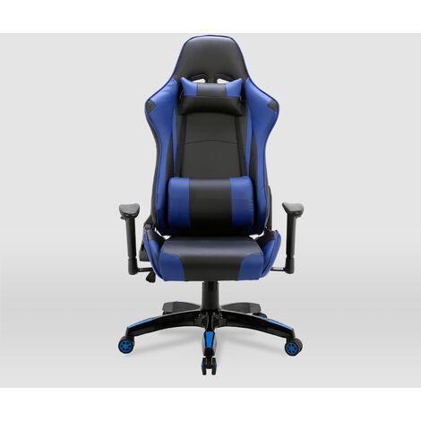 La Silla Española - Silla de estudio juvenil tipo Gaming modelo Peñiscola en color negro y azul
