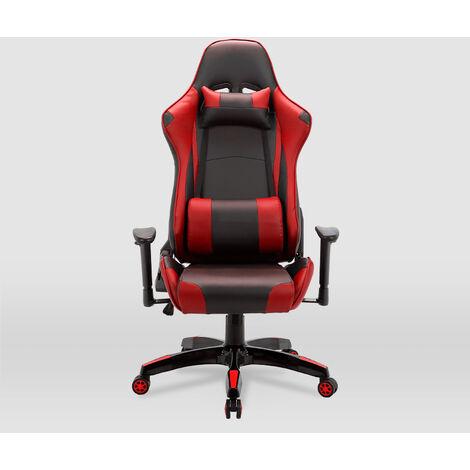 La Silla Española - Silla de estudio juvenil tipo Gaming modelo Peñiscola en color negro y rojo