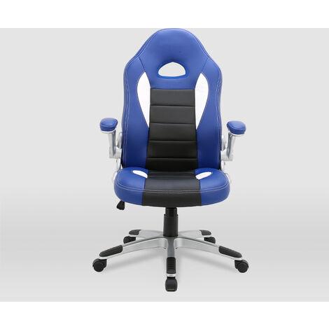 La Silla Española - Silla de estudio juvenil tipo Gaming modelo Sepúlveda en color azul y negro