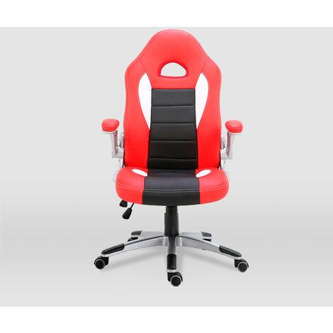 La Silla Española - Silla de estudio juvenil tipo Gaming modelo Sepúlveda en color rojo y negro