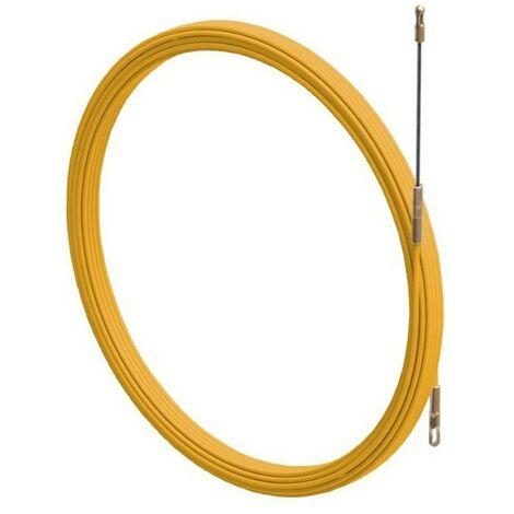 La sonda Arnocanali cable tirador de cable de fibra 3.5 mm 15mt de color amarillo AF35.015