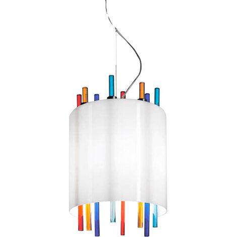 La suspensión de la Murrina Lollipop de cristal de Murano multicolor 1XE27 17006
