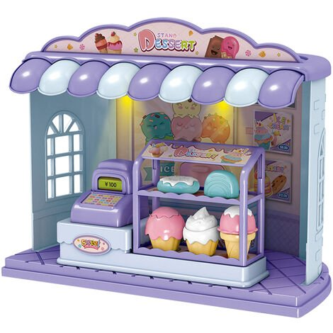 La table de barbecue de machine de burger de simulation pour enfants coupe les jouets heureux de maison de jeu