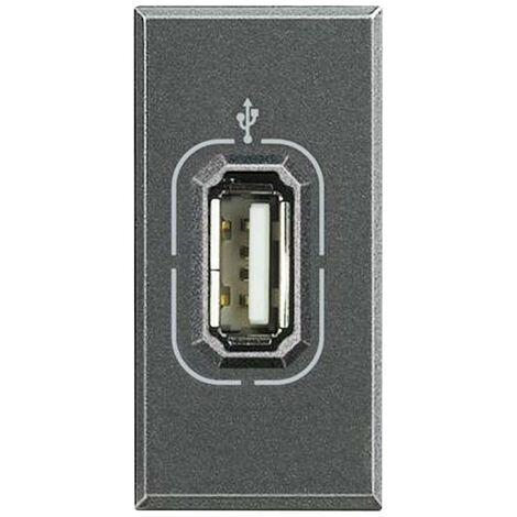 La toma USB de datos antracita Bticino Axolute HS4285