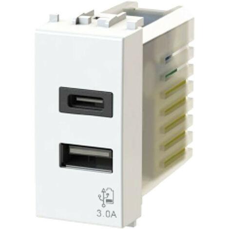 La toma USB de la 4Box 3.0 para la serie Bticino Matix Blanco 4B.AM.USB.30