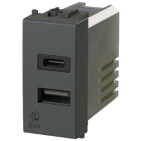 La toma USB de la 4Box 3.0 para la serie Vimar Arke Gris 4B.V19.USB.30