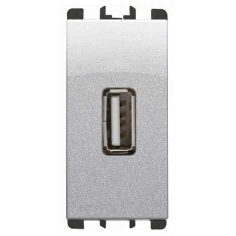 La toma Usb de la Urmet Simon Nea 5V 2.1 a de Aluminio color 10330AL