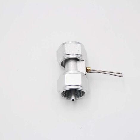 La valvula de gas propano de gas que rellena el conector de recarga camping gas adaptador de valvula, tipo 3